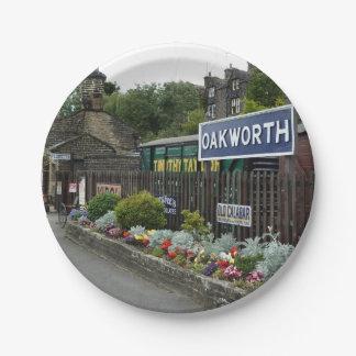 Oakworth Railway Station Paper Plates
