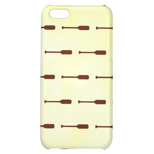 Oar Pattern Paper Texture Cover For iPhone 5C