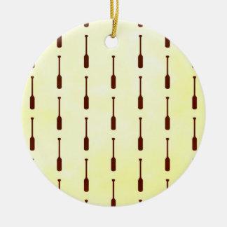 Oar Pattern Paper Texture Christmas Ornaments