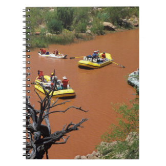 Oar powered rafts turn into the Colorado River Spiral Note Book