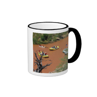 Oar powered rafts turn into the Colorado River Ringer Coffee Mug