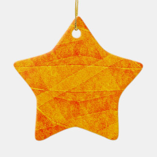 Oarnge Abstract Double-Sided Star Ceramic Christmas Ornament