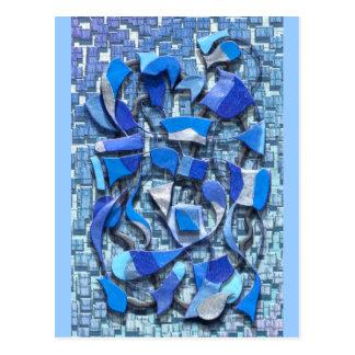 Oars and Rudders (Blue) Postcard