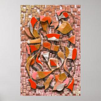 Oars and Rudders (Orange) Print