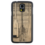 Oars are hung on wooden shed in Big Cypress, 2 Carved® Maple Galaxy S5 Case
