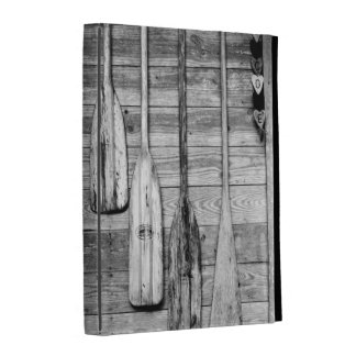 Oars are hung on wooden shed in Big Cypress, 2 iPad Folio Cases