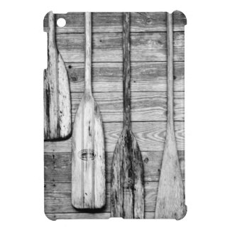 Oars are hung on wooden shed in Big Cypress, 2 Case For The iPad Mini