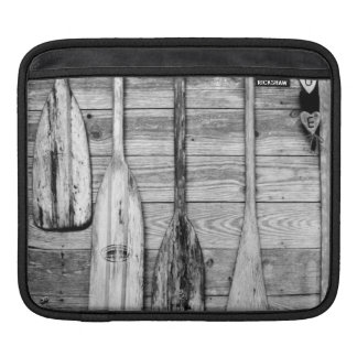 Oars are hung on wooden shed in Big Cypress, 2 iPad Sleeves