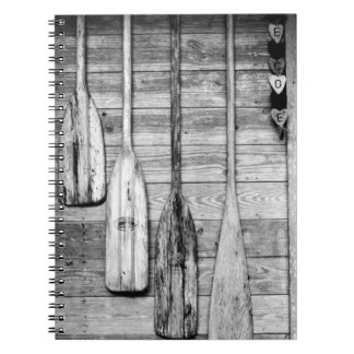 Oars are hung on wooden shed in Big Cypress, 2 Notebook