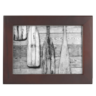Oars are hung on wooden shed in Big Cypress 2 Keepsake Boxes