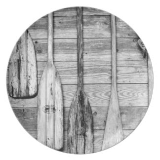 Oars are hung on wooden shed in Big Cypress, 2 Plates