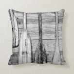 Oars are hung on wooden shed in Big Cypress, 2 Throw Pillows