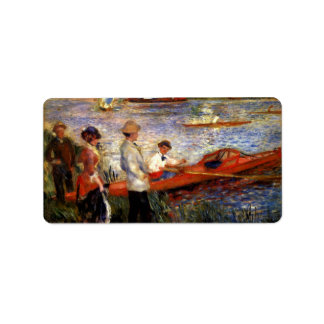 Oarsman of Chatou by Pierre Renoir Address Label