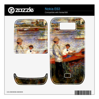 Oarsman of Chatou by Pierre Renoir Decal For The Nokia E63