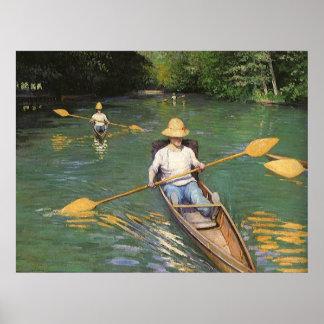 Oarsmen by Caillebotte, Vintage Impressionism Art Print