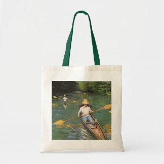 Oarsmen by Gustave Caillebotte, Vintage Fine Art Tote Bag