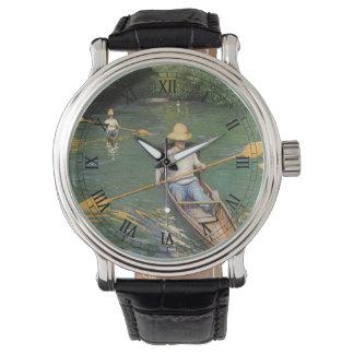 Oarsmen by Gustave Caillebotte, Vintage Fine Art Wrist Watch