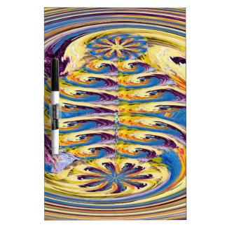 OASIS Alien Landscape Art : Abstract Layer work Dry Erase Board