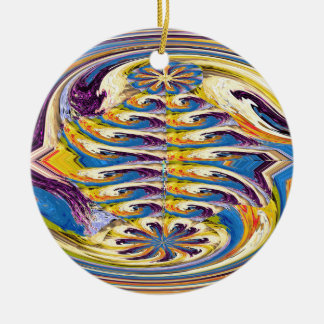 OASIS Alien Landscape Art Abstract Layer work Christmas Tree Ornaments
