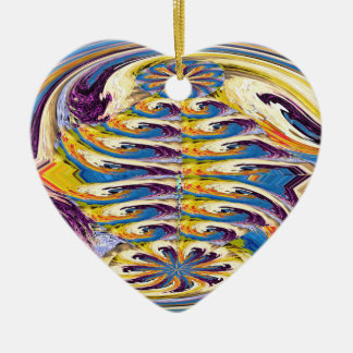 OASIS Alien Landscape Art Abstract Layer work Christmas Ornaments