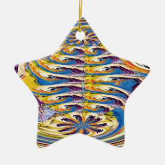 OASIS Alien Landscape Art Abstract Layer work Christmas Ornament