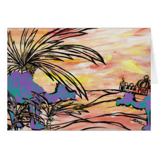 Oasis Camels Greeting Card
