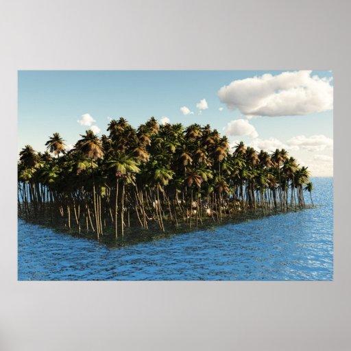 Oasis de la isla póster
