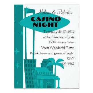 Oasis del casino invitación 10,8 x 13,9 cm