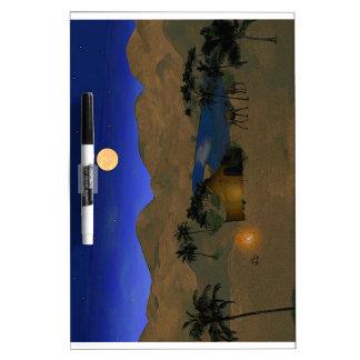 Oasis en el desierto pizarras blancas de calidad