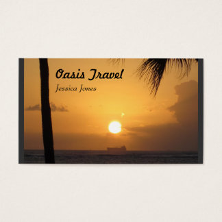 Oasis- Grey Business Card