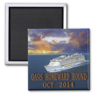 OASIS HOMEWARD BOUND 2 INCH SQUARE MAGNET