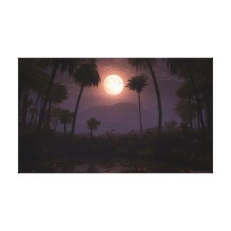 Oasis iluminado por la luna (2012) impresiones en lona estiradas