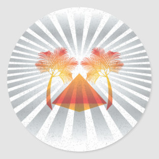 Oasis (Large) Classic Round Sticker