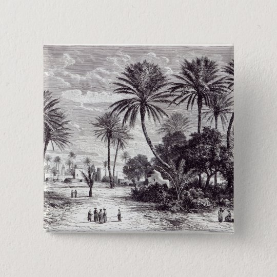 Oasis of Gafsa: Tunis Pinback Button