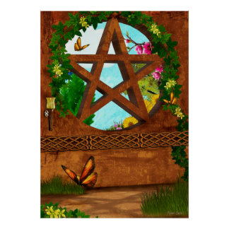 Oasis Pagan Folk Art Print
