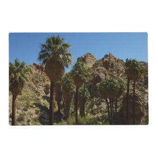 Oasis perdido de las palmas en parque nacional de tapete individual