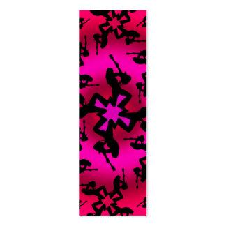 Oasis rosado - tarjeta flaca tarjeta de negocio