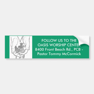 OASIS WORSHIP CENTER BUMPER STICKERS