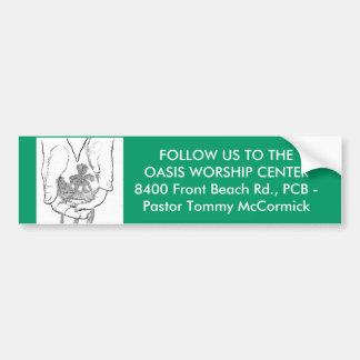 OASIS WORSHIP CENTER CAR BUMPER STICKER