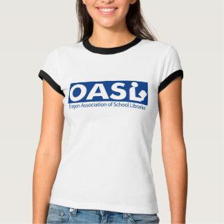 OASL Logo Women's Melange Ringer T-Shirt