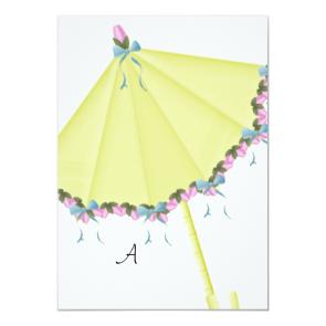 Oastel Flowered Unbrella Bridal Shower Invitations