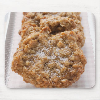 Oat biscuits on plate mousepad