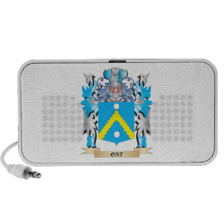 Oat Coat of Arms - Family Crest iPhone Speakers