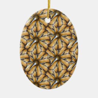 Oat flakes ceramic ornament