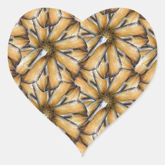 Oat flakes heart sticker