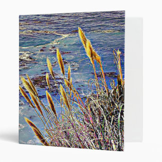 Oat Grass & Waves 3 Ring Binder