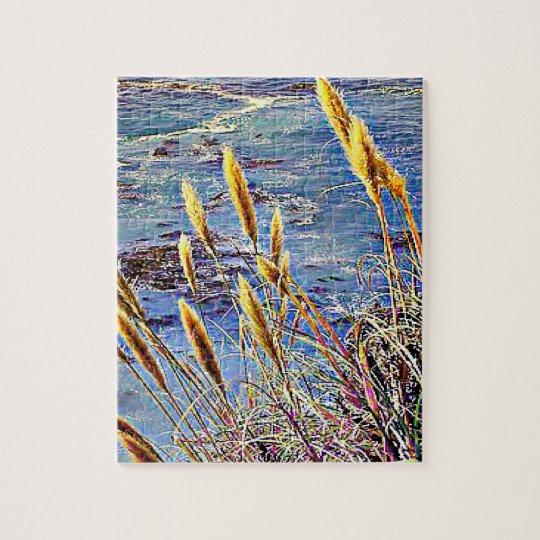Oat Grass & Waves Jigsaw Puzzle