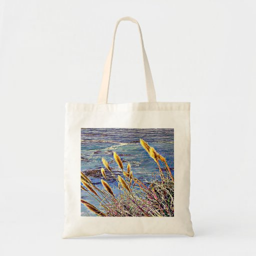 Oat Grass & Waves Tote Bag