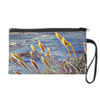Oat Grass & Waves Wristlet Purse