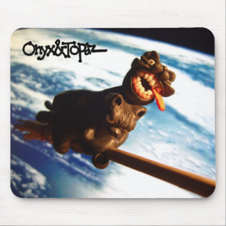 oat on a broomstick over earth7 mouse pad